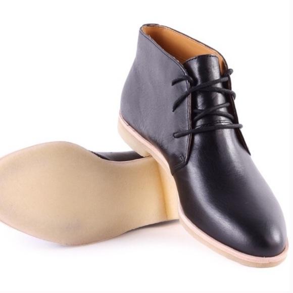 f6bcd07b22 Clarks Shoes | Originals Black Leather Phenia Desert Boots | Poshmark